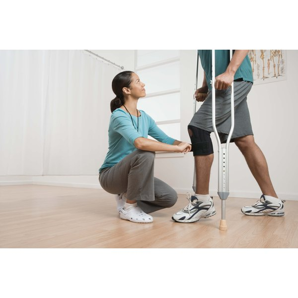 Physical therapist with a patient