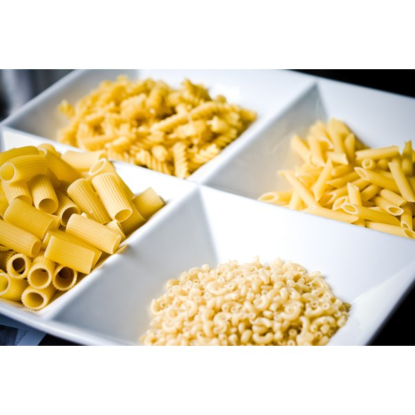 Most small pasta shapes are interchangeable.