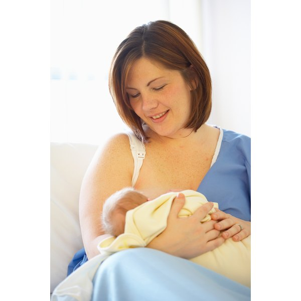Sitting up while you breastfeed can help prevent heartburn.