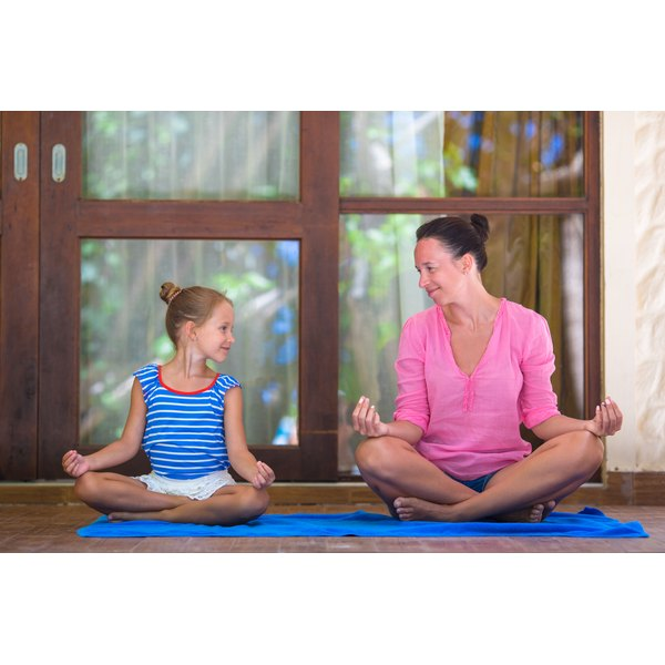 Children should be careful when practicing yoga.