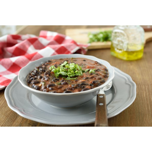 A hearty bowl of protein-rich black bean chili.