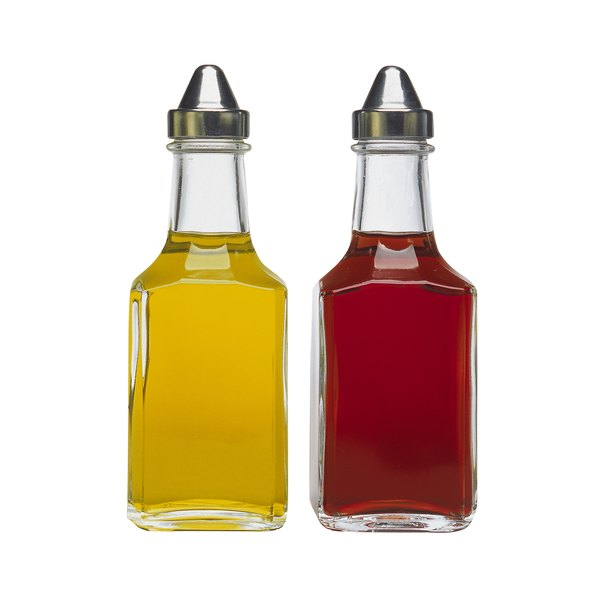 Vinegar is often paired with oil to dress a salad.