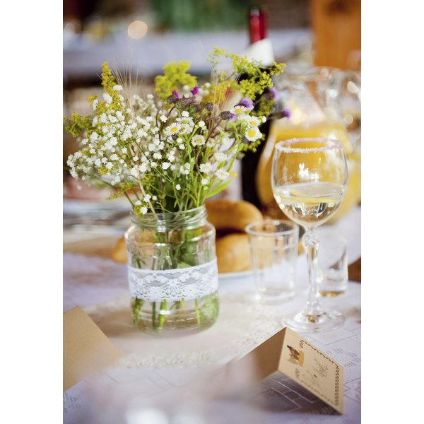 Flowers make an inexpensive gift to give at an engagement party.