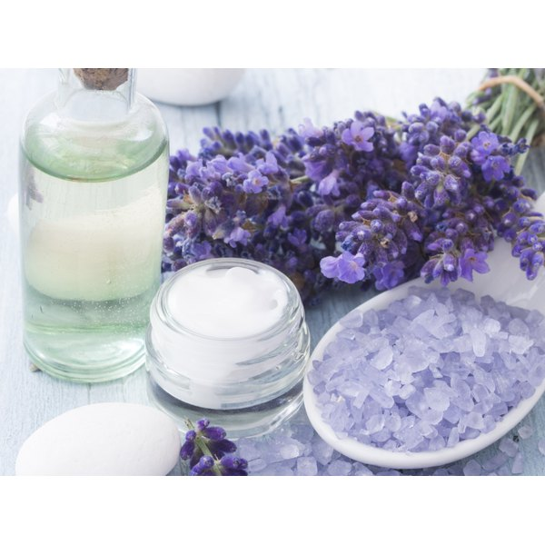 Skin care products on a table.