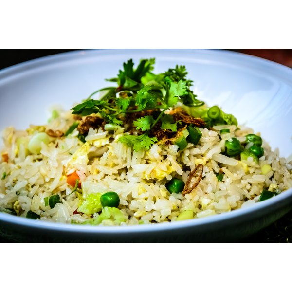 Soy sauce adds a delicate saltiness to hibachi fried rice.