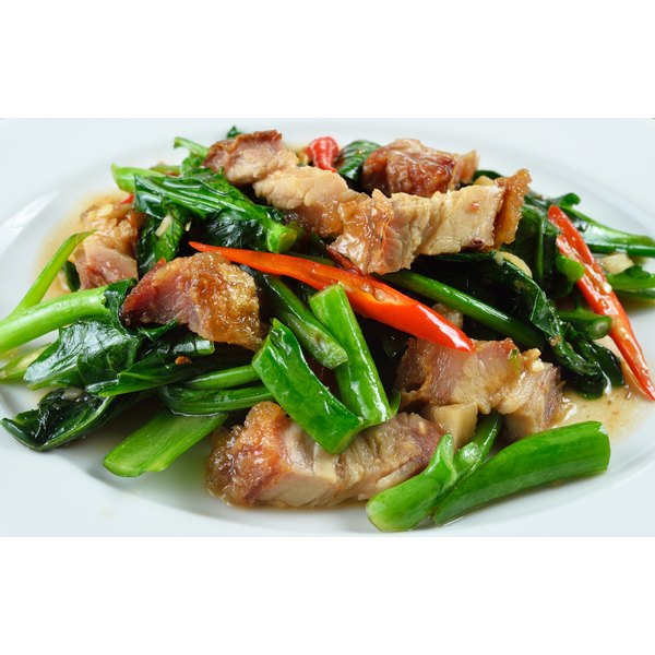 Pork pairs well with a variety of fruits and vegetables.