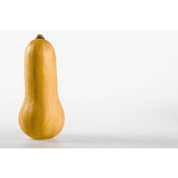 Butternut squash sort of looks like a nose from the front.