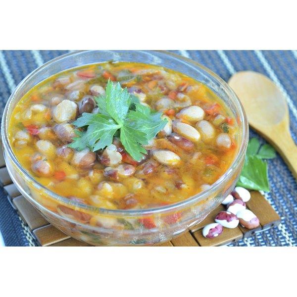 A bowl of 15-bean soup.