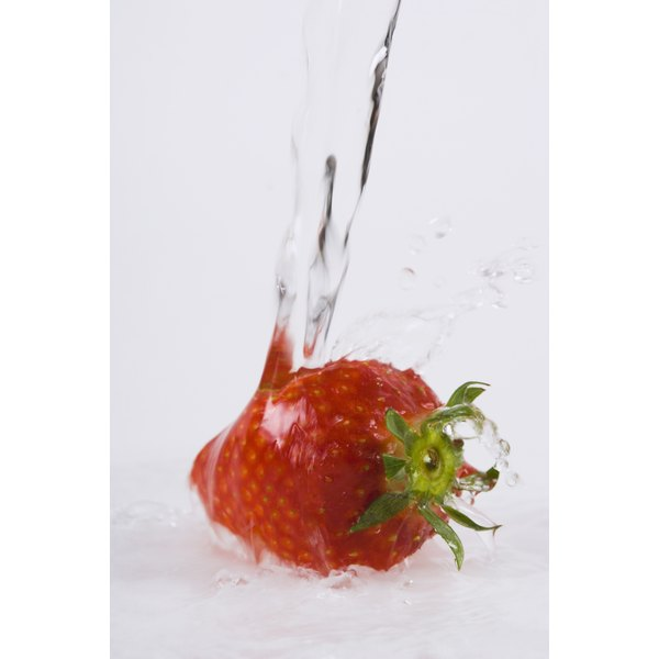 Water is one of the best ways to clean fruit.
