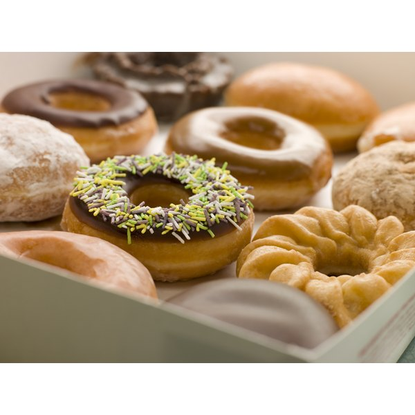 Doughnuts are calorie-dense, so eat them sparingly.