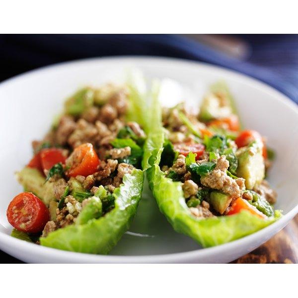 Try using lettuce instead of bread for a fresh, crisp sandwich alternative.