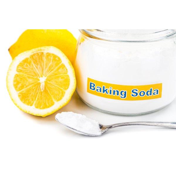 A jar of baking soda.