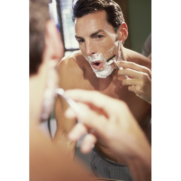Shaving can cause folliculitis barbae if done improperly or with an infected razor.