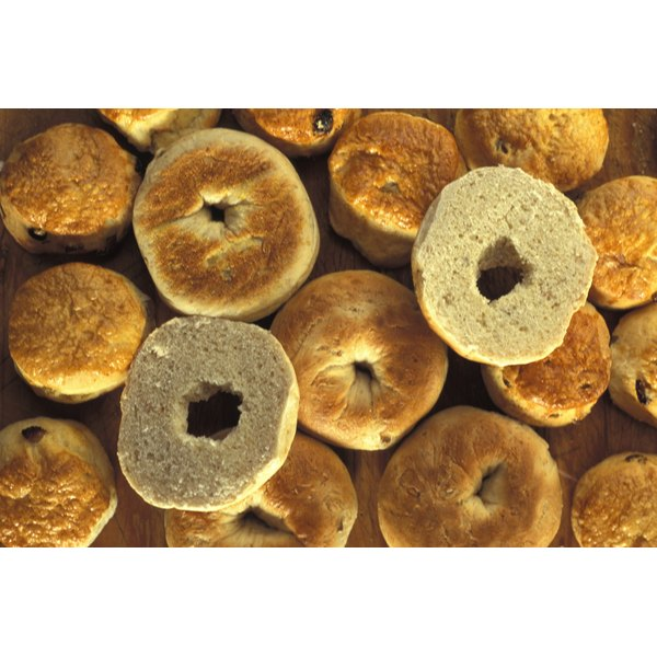 Bagels have less fat than donuts, but not less calories.