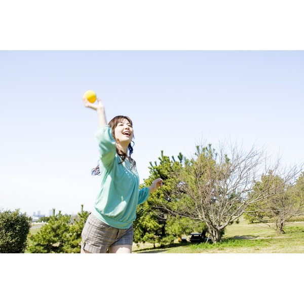 Throwing a ball can help burn calories and provide exercise.