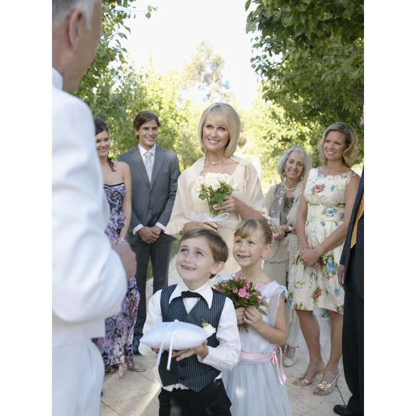 Ring bearers are typically between four- and eight-years-old.