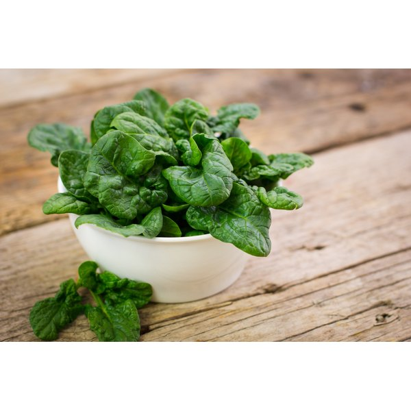 Include fiber-rich foods, such as spinach, in your daily diet.