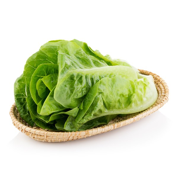 A large romaine leaf makes a good wrap for your low-carb