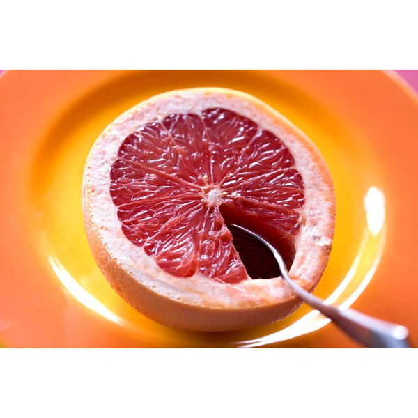 Grapefruit and spoon