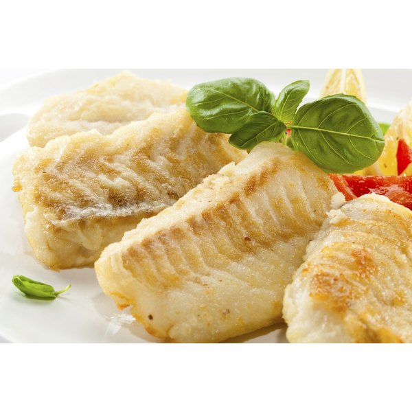 plate of cooked codfish