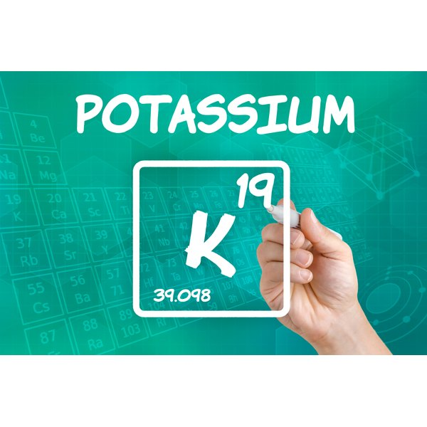 Potassium is designated by the letter K on the periodic table..