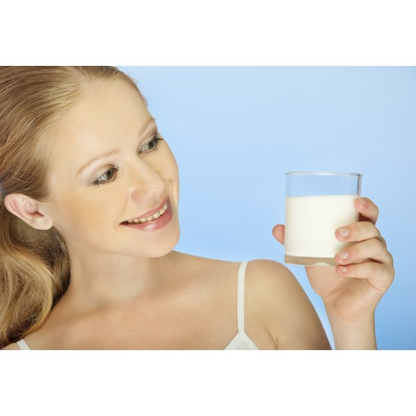 Milk contains amino acids, calcium and an array of minerals and vitamins.