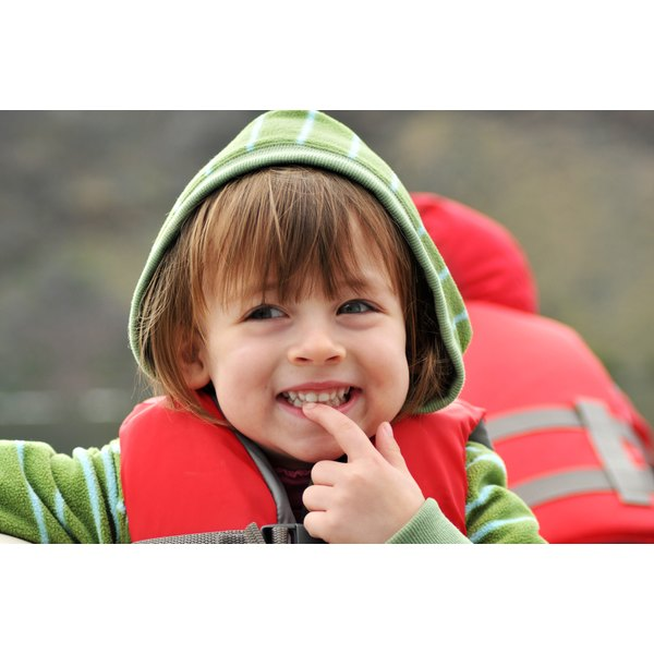 Young child wearing a lifejacket