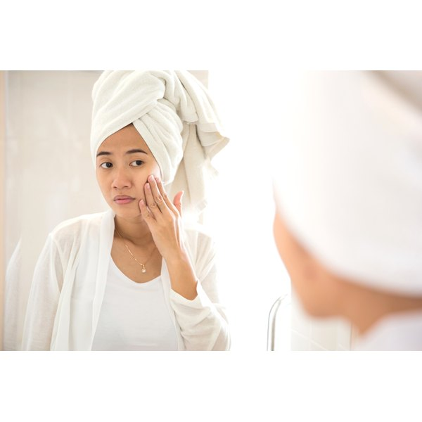 Warming the skin can open pores, making the blockages easier to remove.