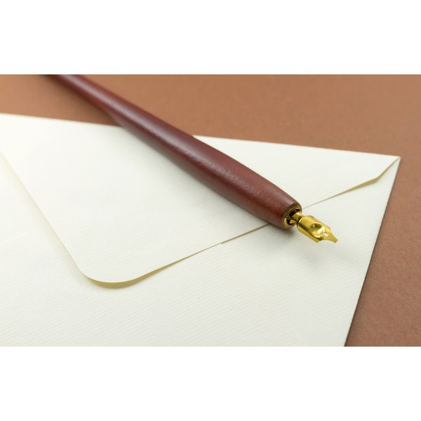 Envelope and fountain pen.