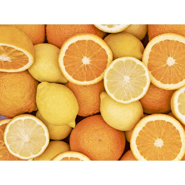 An assortment of sliced oranges and lemons.