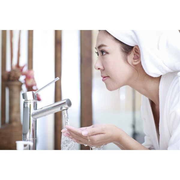 Seawater helps skin retain moisture and can fight acne-producing bacteria.