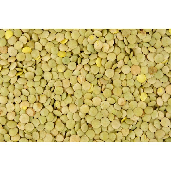 Lentils in a pile.