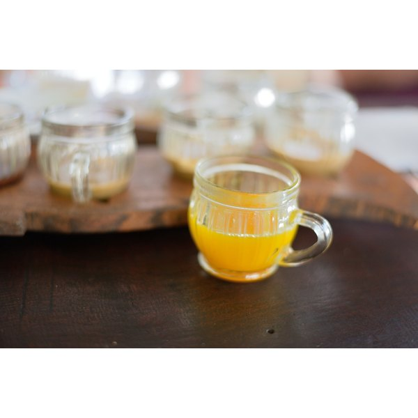 A small cup of turmeric tea.