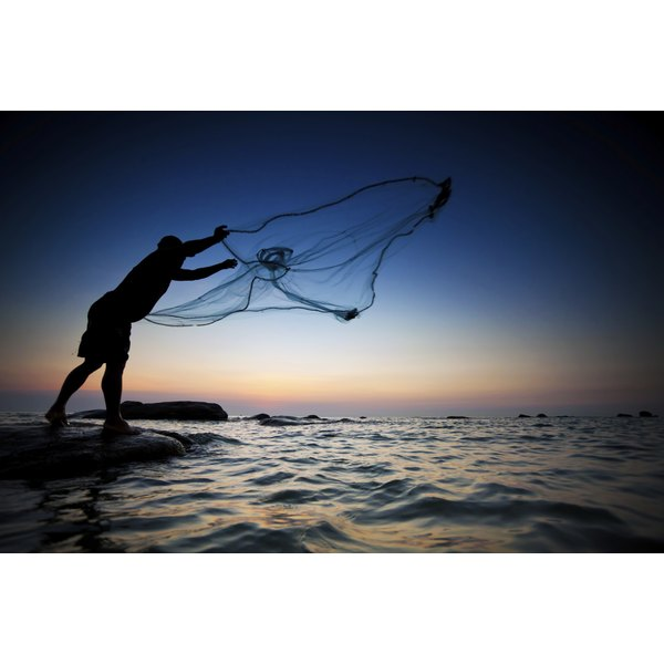 Mending a fishing net is simple.