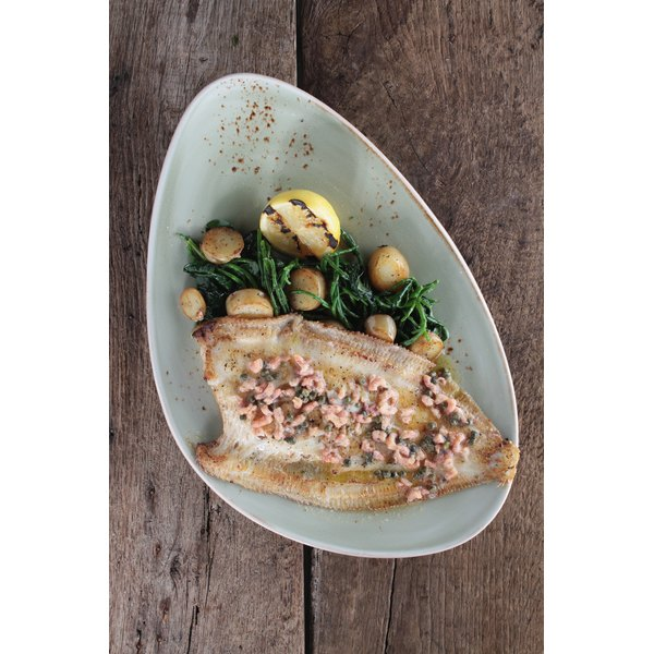 Nutrient value of dover sole can vary depending on preparation.