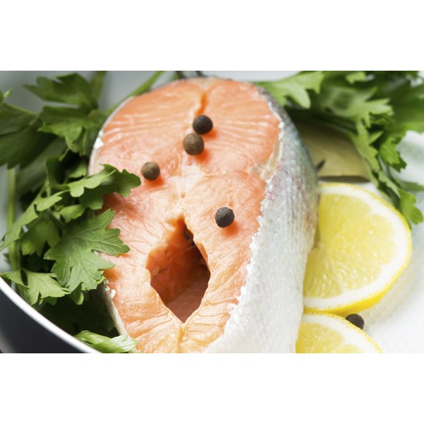 Salmon is high in fish oil and also purines.