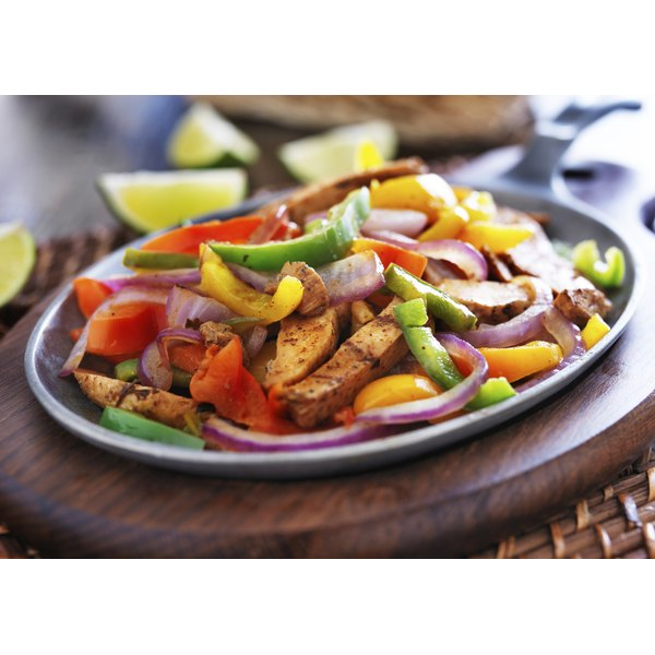 Healthy chicken fajita.