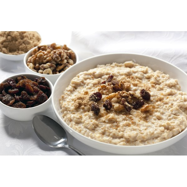 Nutrient-rich whole grains like oatmeal are part of a balanced diet