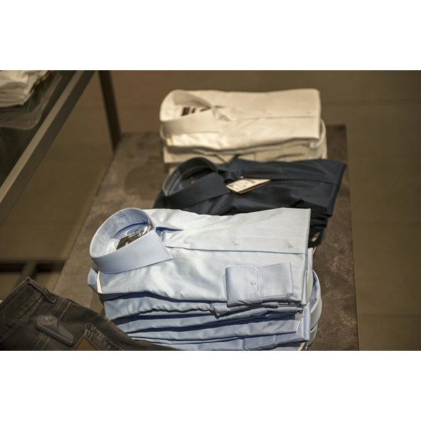 Button-downs in a store