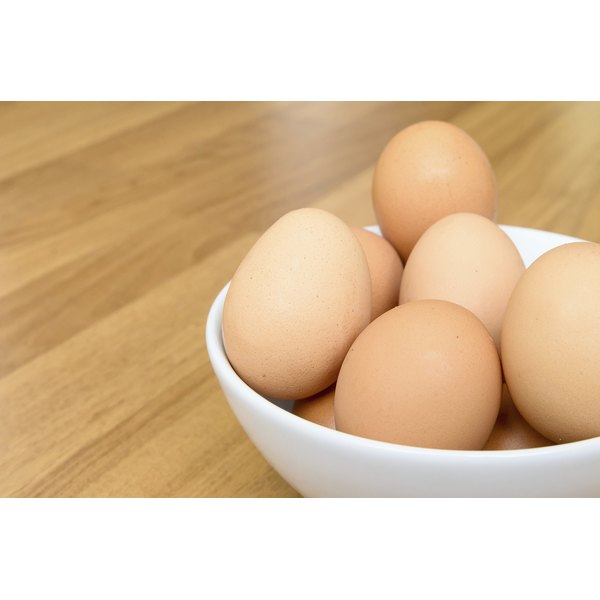 Bowl filled with brown eggs
