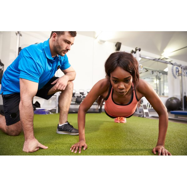 Personal trainers help clients meet their fitness goals.