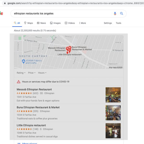 Screenshot of cropped screenshot selection on Google.
