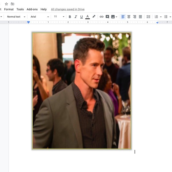 Elongated image in Google doc.