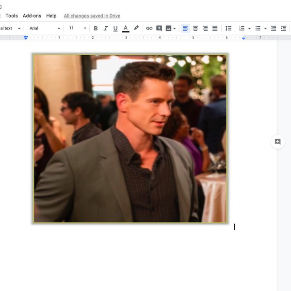 Widened image in Google doc.