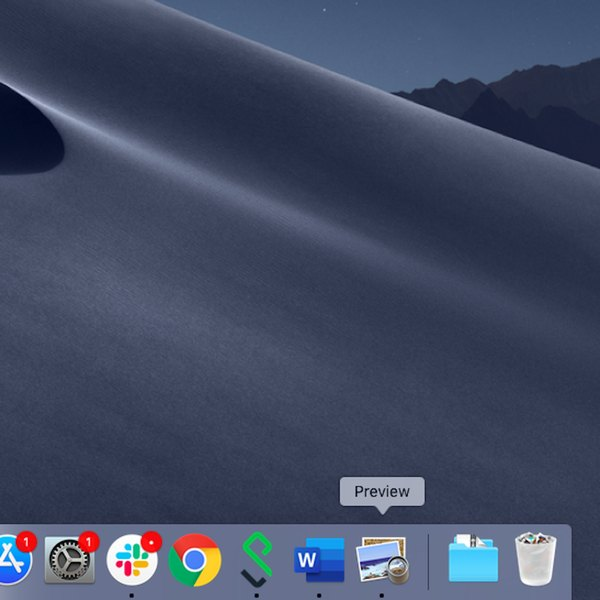Preview dock icon on Mac.
