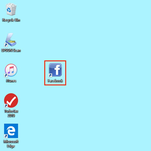 Unused icon on Windows desktop.