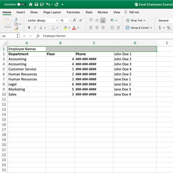Dragging cell across columns in Excel.