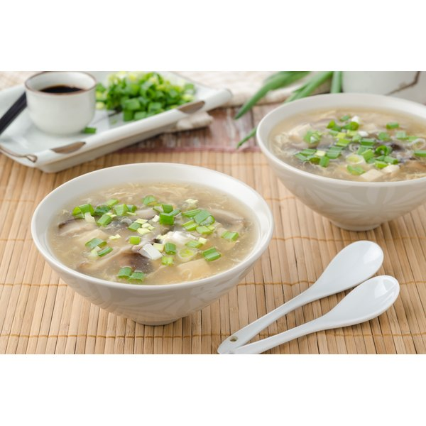 Egg flower soup is sometimes called egg drop soup.