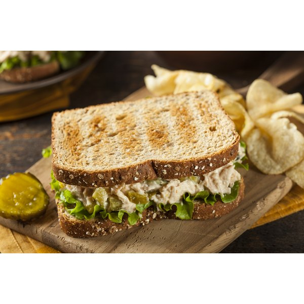 A tuna sandwich is an excellent source of selenium.