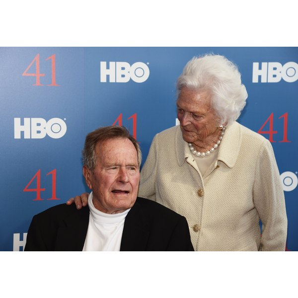 The Bushes were the longest-married first couple.